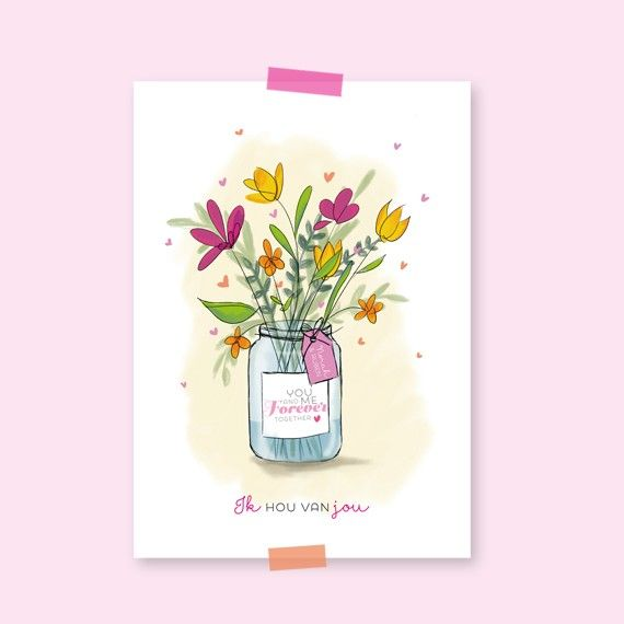 Miniposter Bloemen