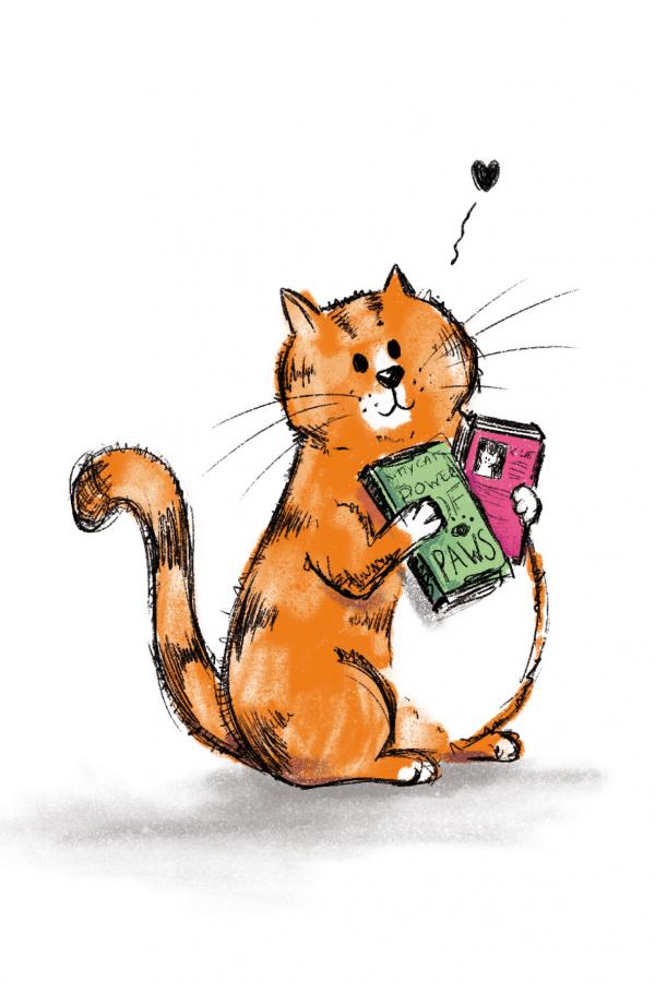 kaart met kat