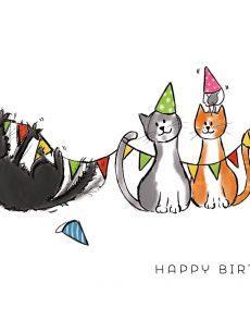 verjaardagskaart met katten