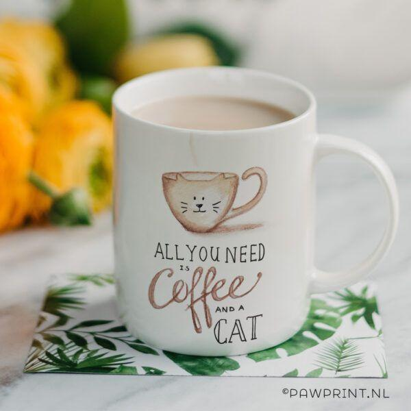 Coffee and cat beker